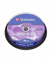 Verbatim DVD+R Dual Layer(DL) 8.5GB 8x (10pcs in Spindle) [Cake Box]